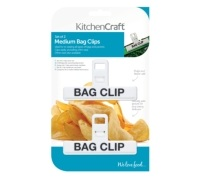 Kitchen Craft Set of 2 Medium Plastic Bag Clips