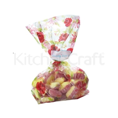 Sweetly Does It Pack of 30 Floral Treat Bag Kits