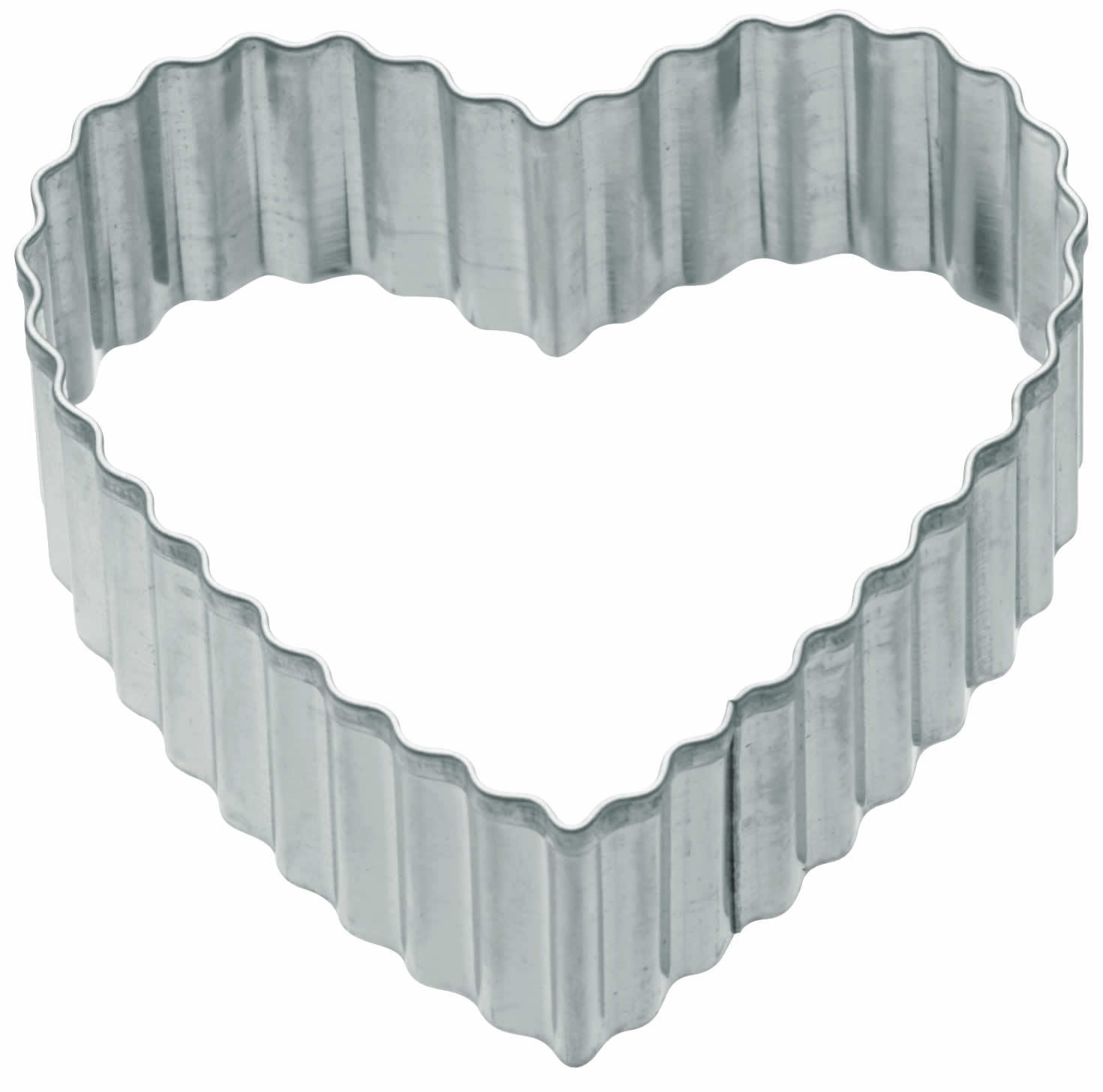 Kitchencraft 6cm Fluted Heart Shaped Metal Cookie Cutter