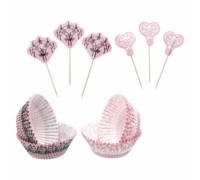 Sweetly Does It Lace Patterned Cupcake Kit