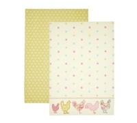 Kitchen Craft Set of 2 Chicken Tea Towels