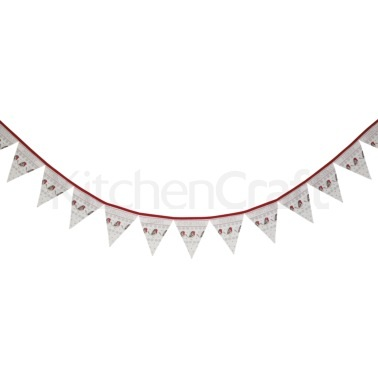 Little Red Robin 3.4 Metre Cotton Bunting