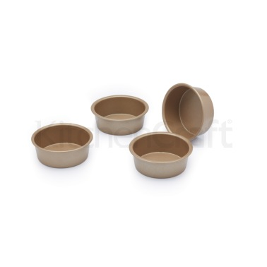 Paul Hollywood Set of 4 Non-Stick Mini Round Baking Tins