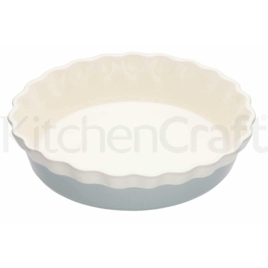 Classic Collection Large Round Fluted Pie Dish