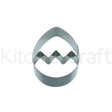 KitchenCraft 9cm Egg Shaped Cookie Cutter