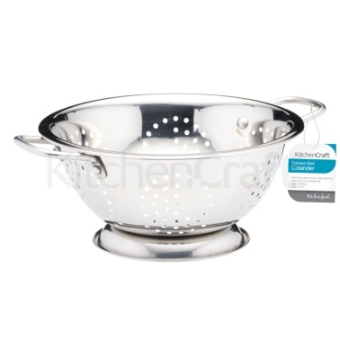 Kitchen Craft Stainless Steel 24cm Colander