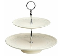 Classic Collection Ceramic 2 Tier Cake Stand