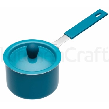 Colourworks Blue Mini Saucepan with Soft Grip Handle