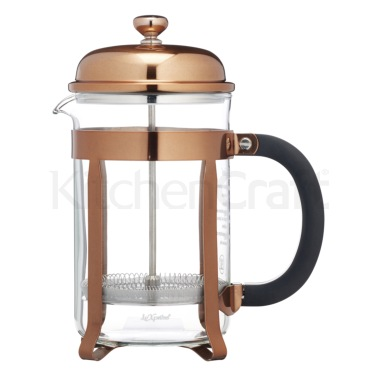 Le'Xpress Chrome Plated Copper Finish 6 Cup Cafetiere
