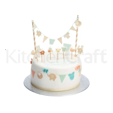 Sweetly Does It Baby Flag Cake Toppers and Bunting