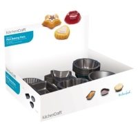 KitchenCraft Counter Top Display of 72 Mini Cake Pans