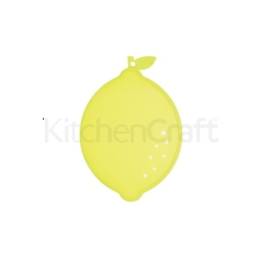 Kitchen Craft Lemon Shaped Cut & Serve Reversible Board