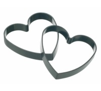 Kitchen Craft Set of 2 Non-Stick Heart Shaped Egg Rings
