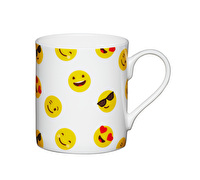 KitchenCraft Set of Four Bone China Emojis Face Mini Mugs