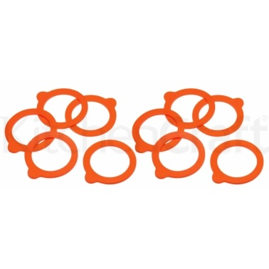 Home Made Pack of 10 Spare Silicone Sealing Rings for Terrine Jars