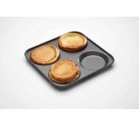 Antihaft-Yorkshire-Pudding-Backblech mit 4 Mulden