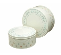 Classic Collection Set of 2 Patterned Cake Tins