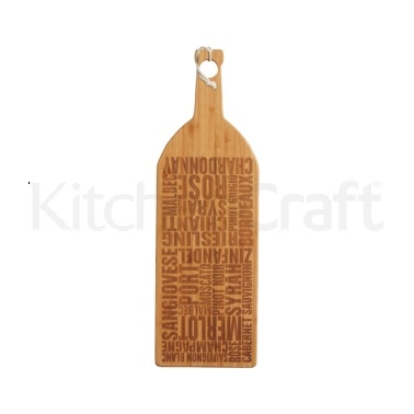 MasterClass Gourmet Prep & Serve Wine Bottle Bamboo Board