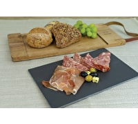 Artesà Acacia Wood and Slate Serving Board