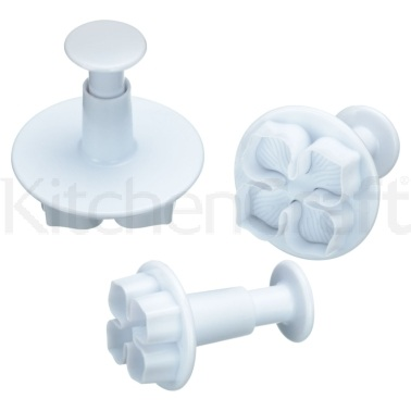 Sweetly Does It Set of 3 Pansy Fondant Plunger Cutters