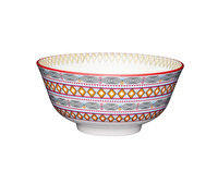 KitchenCraft Moroccan Style Bright Geometric Ceramic Bowls