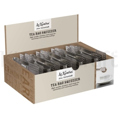 Le'Xpress Display of 18 Teabag Squeezers