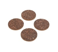 Natural Elements Set of 4 Round Cork Coasters
