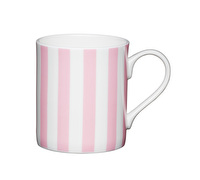 KitchenCraft Set of Four Bone China Pink Stripe Mini Mugs
