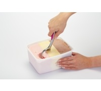Colourworks Pink Ice Cream Scoop with Soft Touch Panel