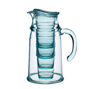"KitchenCraft ""We Love Summer"" BPA-Free Plastic Tumblers and Pitcher Jug Set"