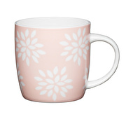 KitchenCraft Set of Four Fine Bone China Pink Petals Mugs