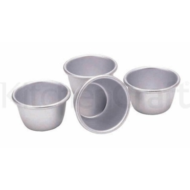 Kitchen Craft Set of Four 7.5cm Mini Pudding Moulds