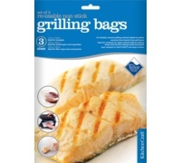 Kitchen Craft Set of Three Re-Usable Non-Stick Grill Bags