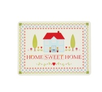 KitchenCraft Home Sweet Home Cork Back Laminated Set of 4 Placemats