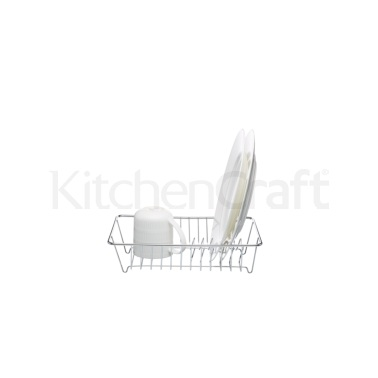 KitchenCraft Deluxe Chrome Plated Small Dish Drainer