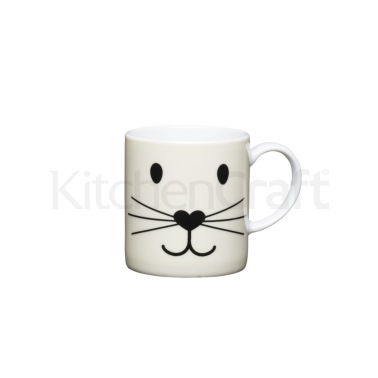Kitchen Craft 80ml Porcelain Cat Face Espresso Cup