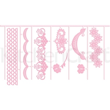 Sweetly Does It Garland 3D Embossing Cutters