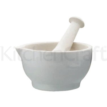 Home Made Ceramic 13.6cm Mortar and Pestle