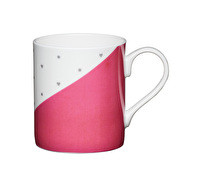 KitchenCraft Set of Four Bone China Pink Panel Mini Mugs