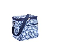 KitchenCraft Santorini Blue Tile Medium 12 Litre Cool Bag