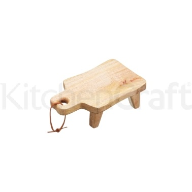 Gourmet Prep & Serve Small Rectangular Mango Footed Serving Board