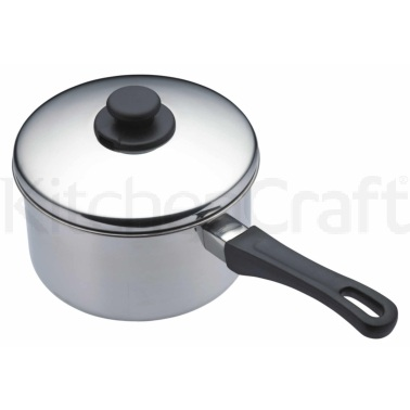 Kitchen Craft Stainless Steel 20cm Extra Deep Saucepan