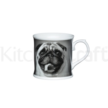 KitchenCraft Fine Porcelain Pug Mug