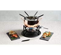 Artesà Hand Finished Copper Effect Fondue Set
