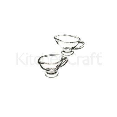 Artesà Set of 2 Glass Mini Sauce Boats