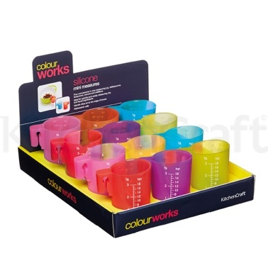Colourworks Display of 12 Silicone Mini Measures