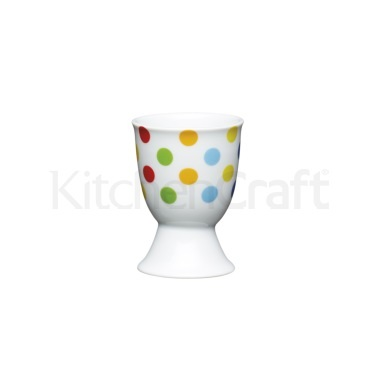 KitchenCraft Brights Spots Porcelain Egg Cup