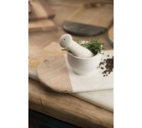 MasterClass Gourmet Prep & Serve Marble & Wood Rectangular Serving Board
