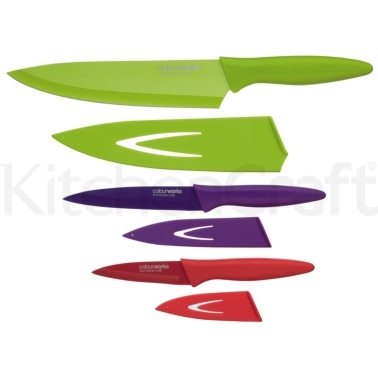 Colourworks Soft Grip 3 Piece Knife Set