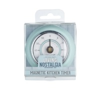 Living Nostalgia Vintage Blue Magnetic Kitchen Timer